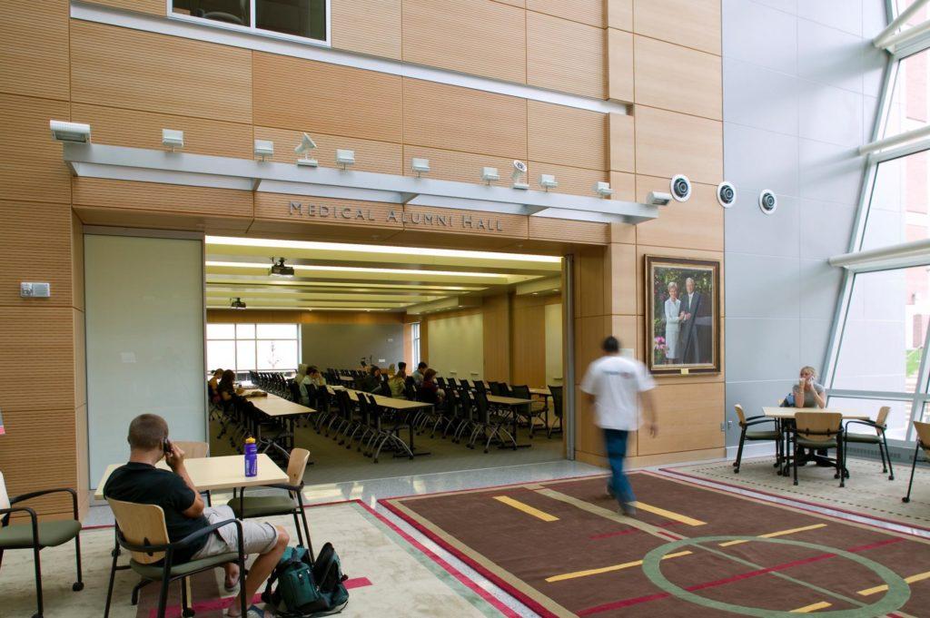 EHSEB Alumni Hall entrance from atrium