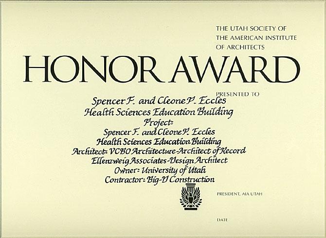 Honor Award, 2005